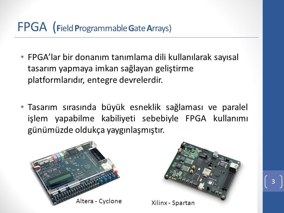FPGA (Field Programmable Gate Arrays)