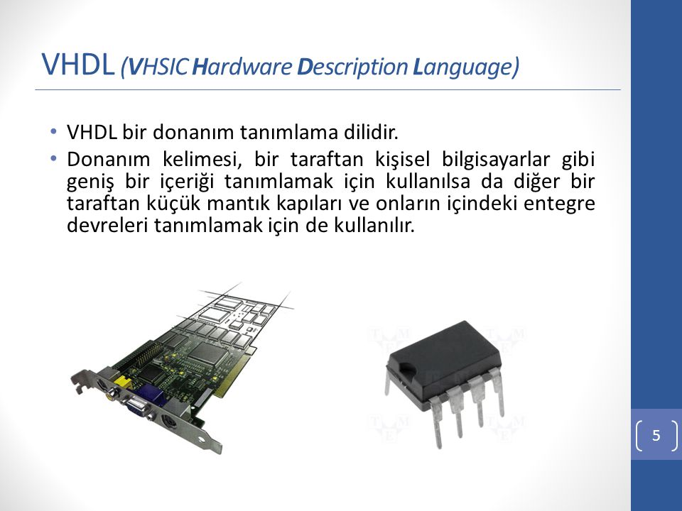 VHDL (VHSIC Hardware Description Language)