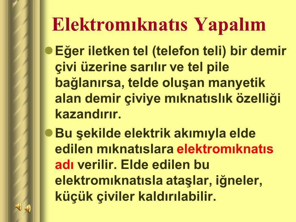 Elektromıknatıs Yapalım