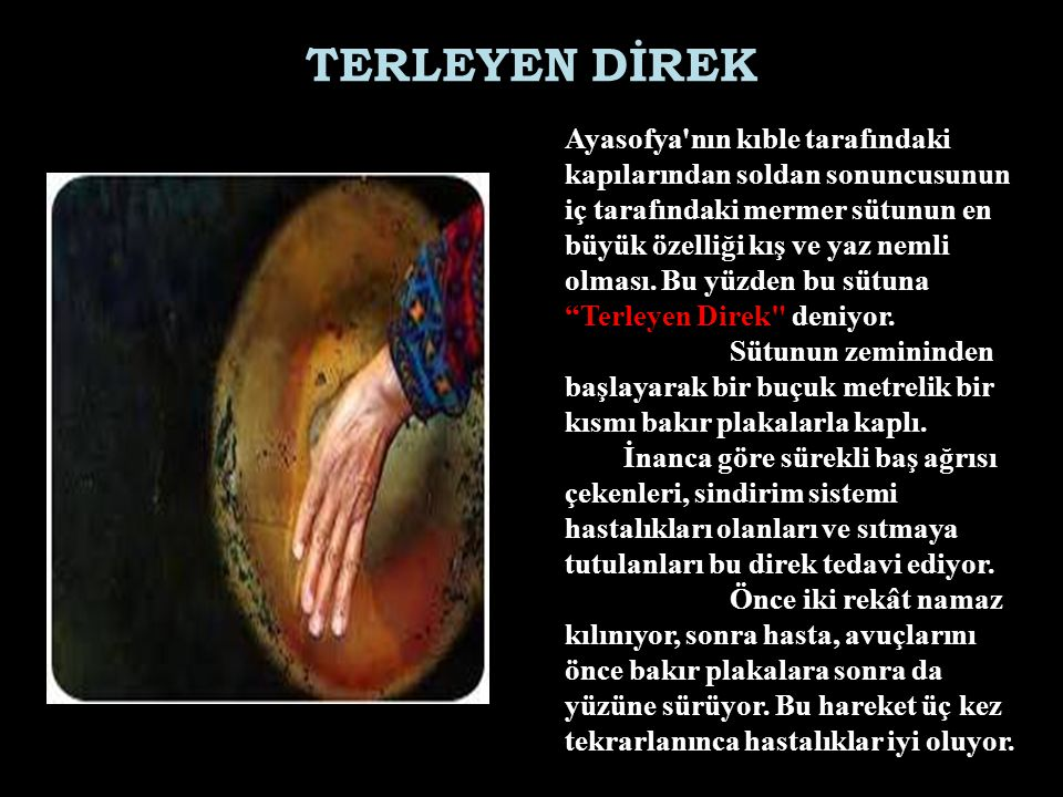 TERLEYEN DİREK