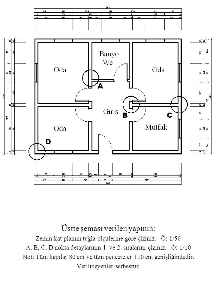 Üstte şeması verilen yapının: