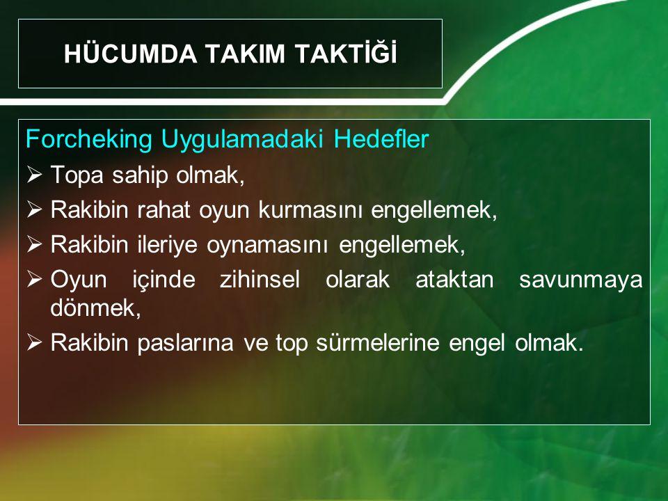 Forcheking Uygulamadaki Hedefler