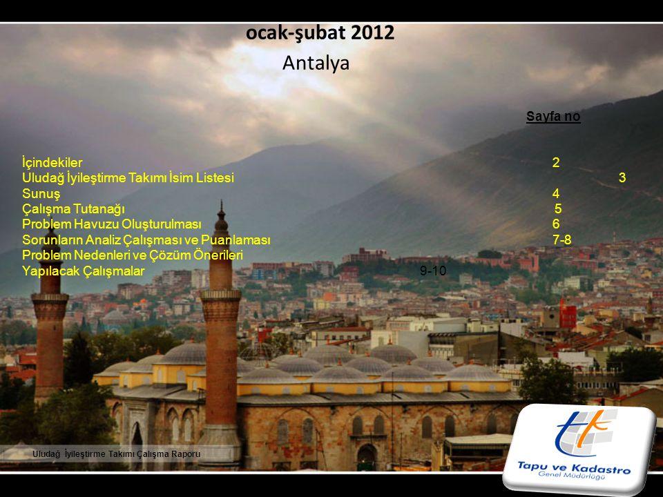 ocak-şubat 2012 Antalya Sayfa no İçindekiler 2