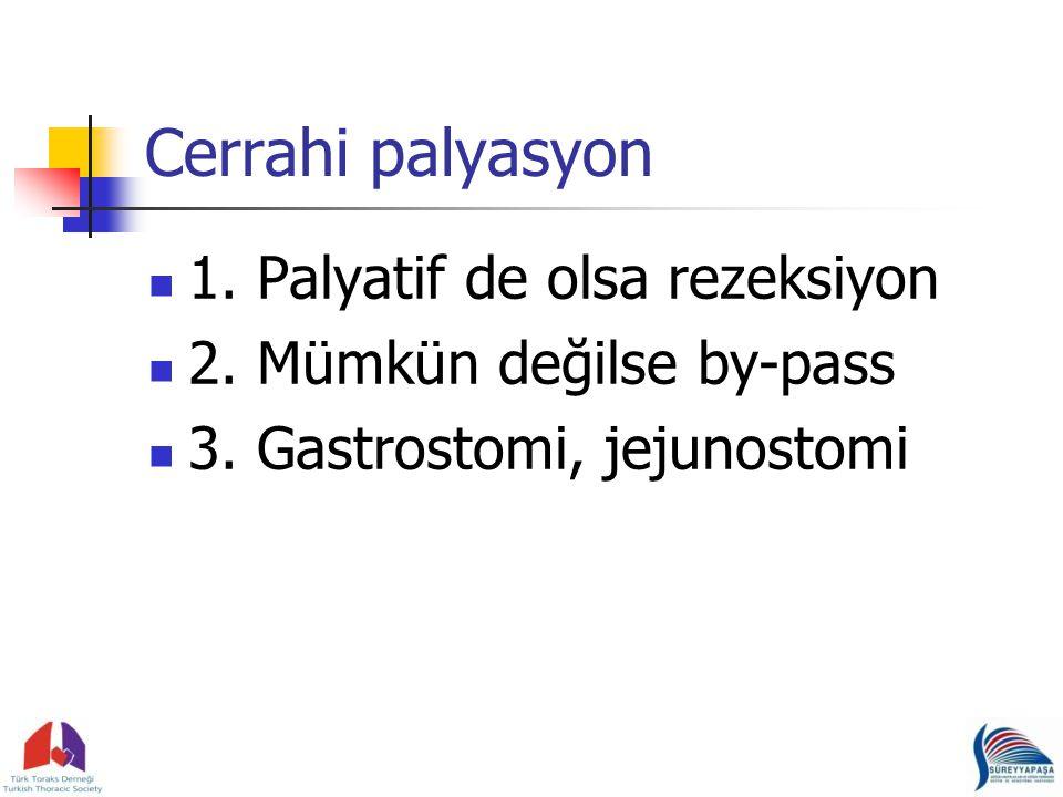 Cerrahi palyasyon 1. Palyatif de olsa rezeksiyon