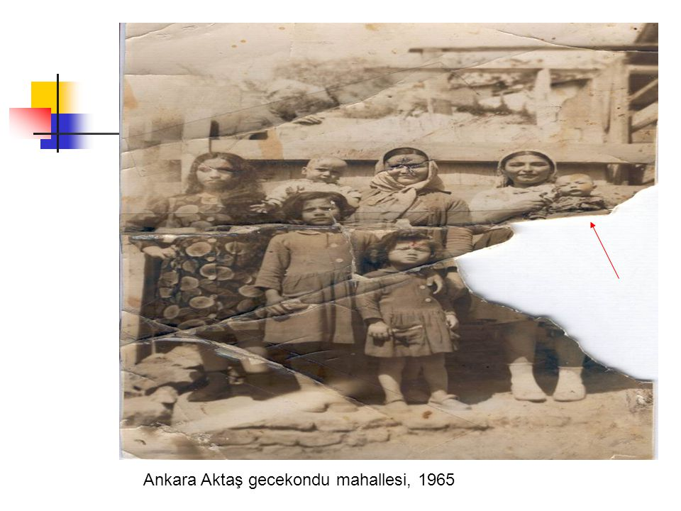 Ankara Aktaş gecekondu mahallesi, 1965