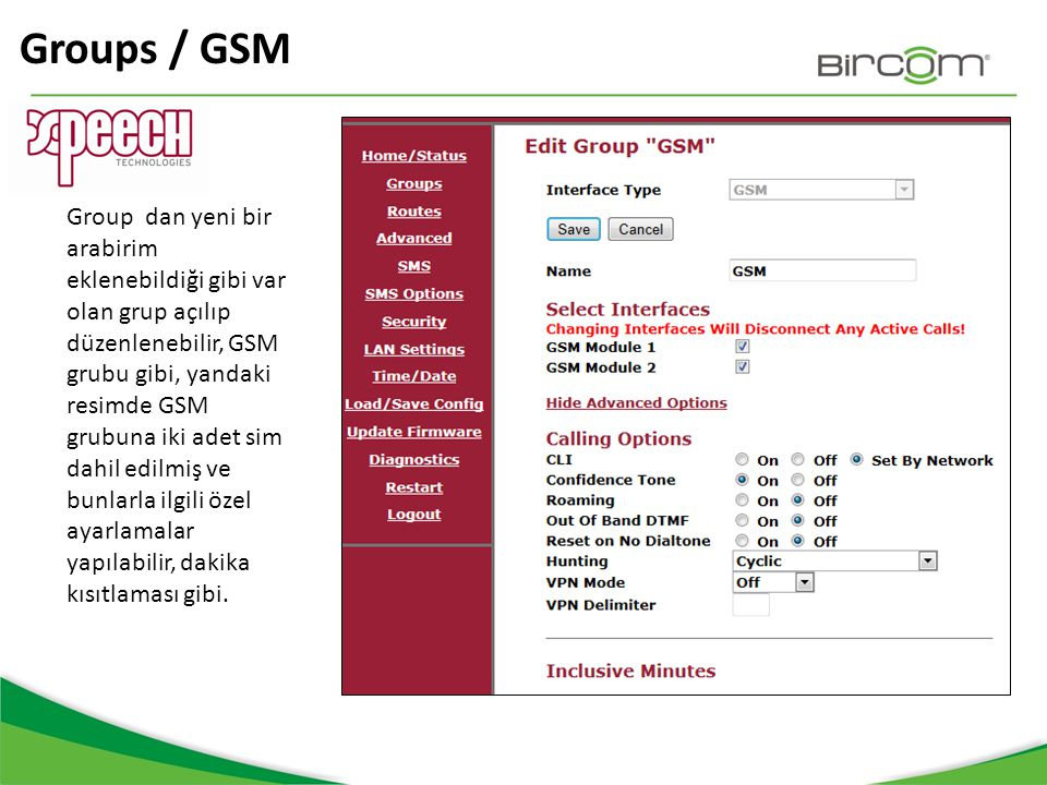 Groups / GSM