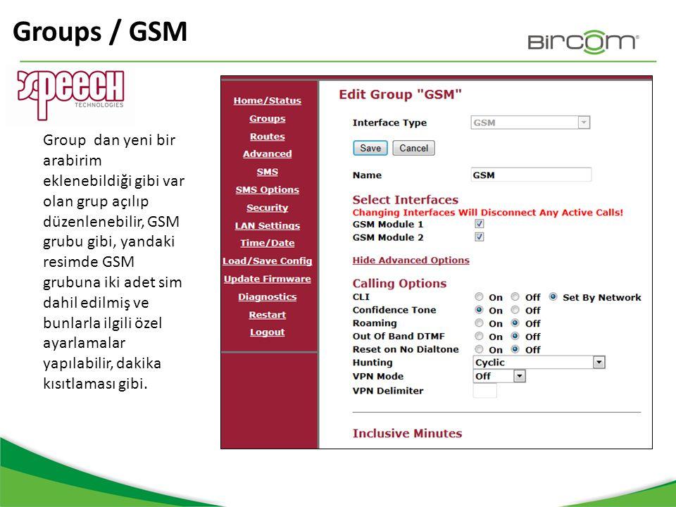 Groups / GSM
