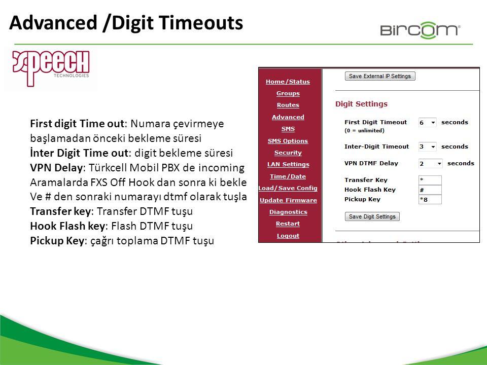 Advanced /Digit Timeouts