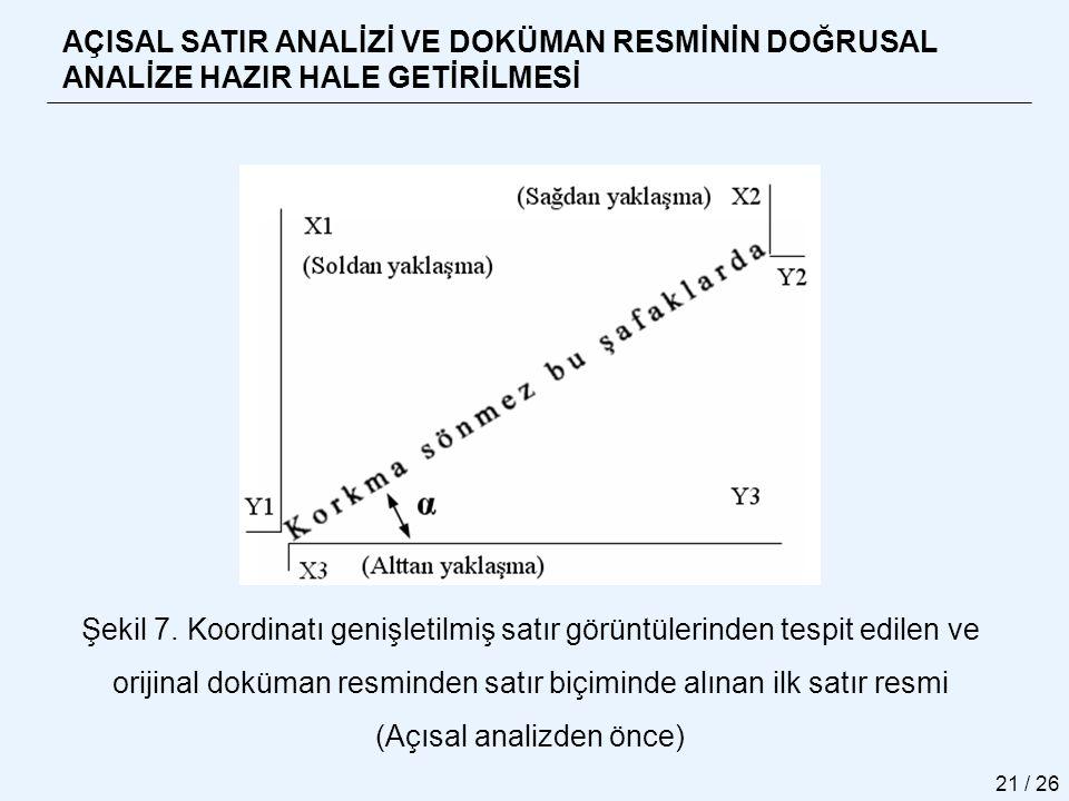 (Açısal analizden önce)
