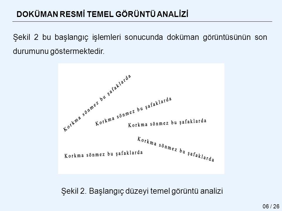 Şekil 2. Başlangıç düzeyi temel görüntü analizi