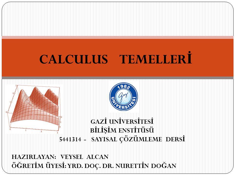 5441314 - SAYISAL ÇÖZÜMLEME DERSİ