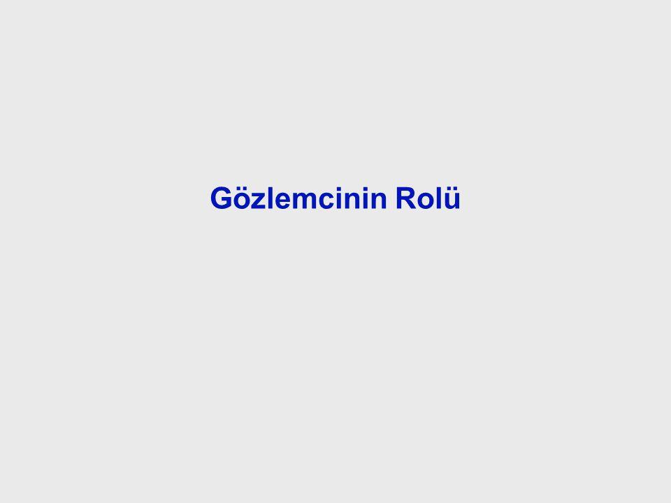 Role of the Observer Gözlemcinin Rolü.