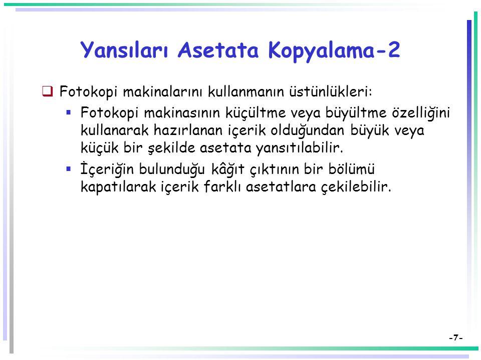 Yansıları Asetata Kopyalama-2