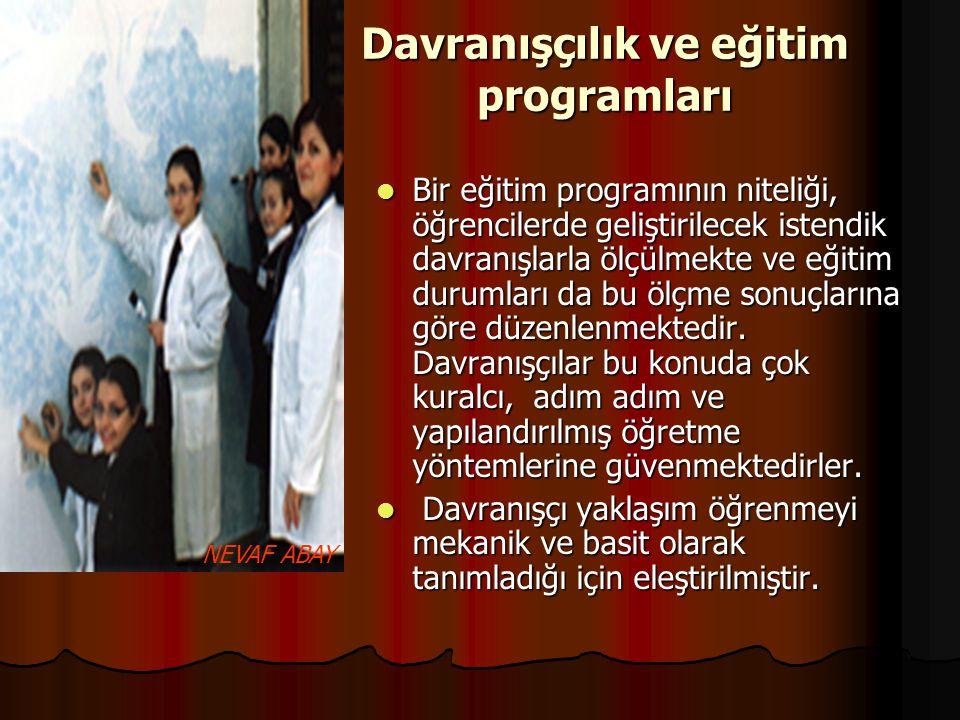 Davranışçılık ve eğitim programları