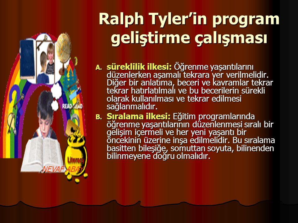 Ralph Tyler'in program geliştirme çalışması