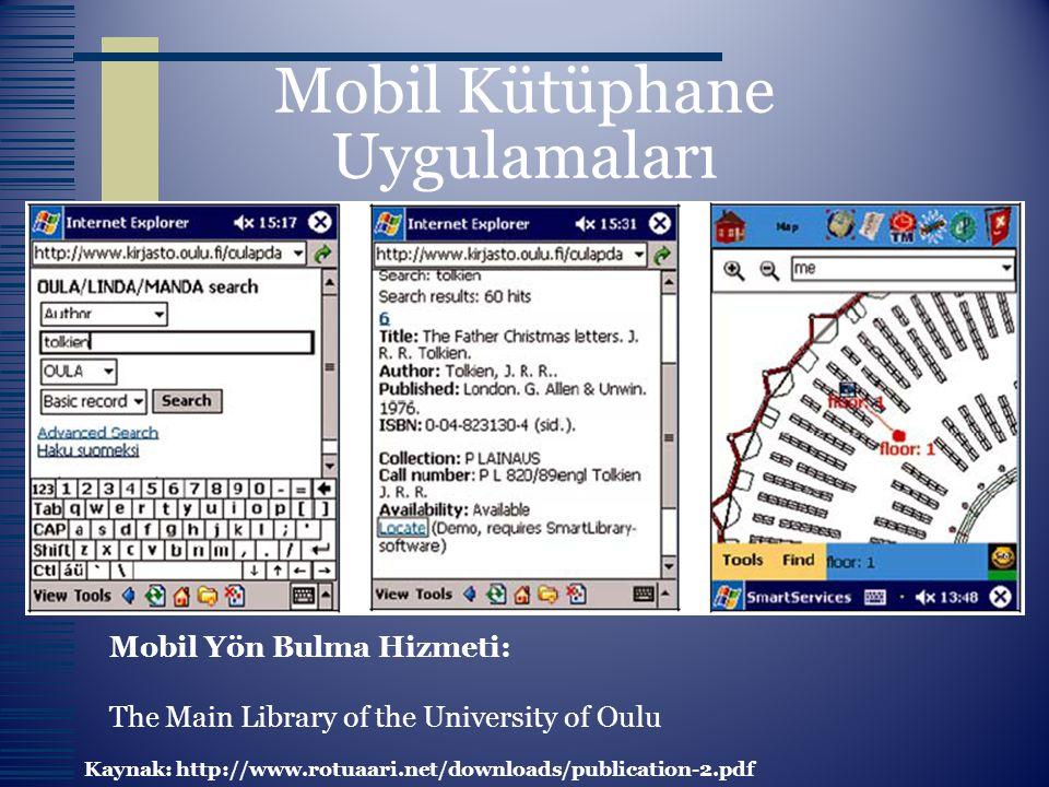 Mobil Kütüphane Uygulamaları