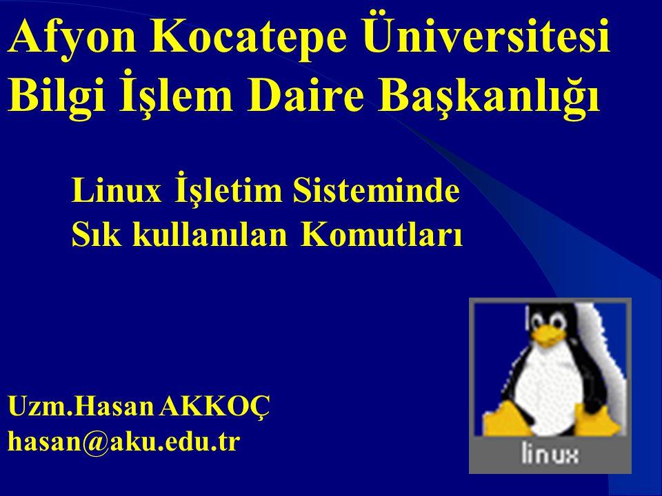 Afyon Kocatepe Üniversitesi Bilgi İşlem Daire Başkanlığı