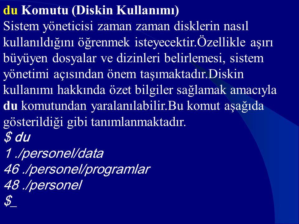 du Komutu (Diskin Kullanımı)