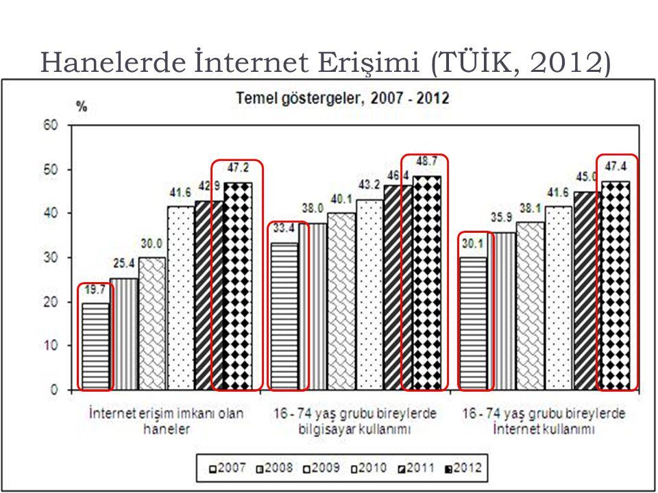 Hanelerde İnternet Erişimi (TÜİK, 2012)