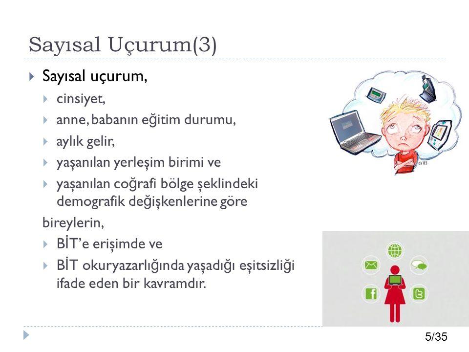 Sayısal Uçurum(3) Sayısal uçurum, cinsiyet,