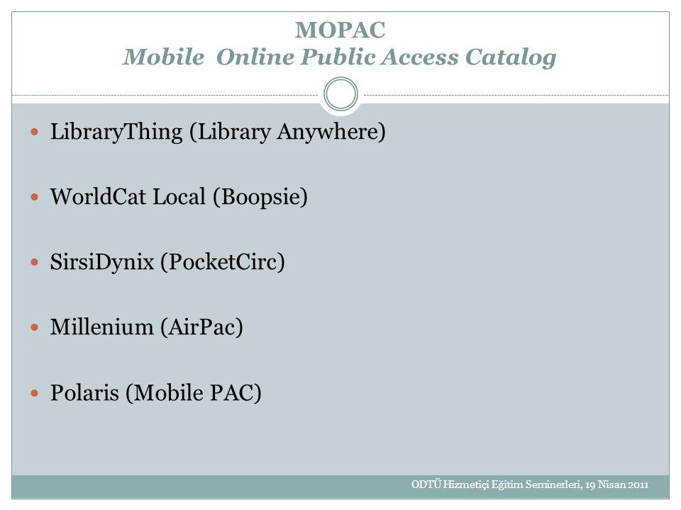 MOPAC Mobile Online Public Access Catalog