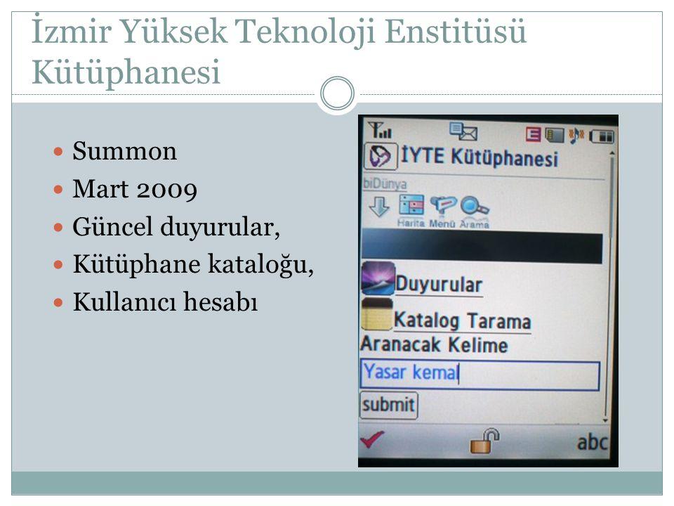 İzmir Yüksek Teknoloji Enstitüsü Kütüphanesi