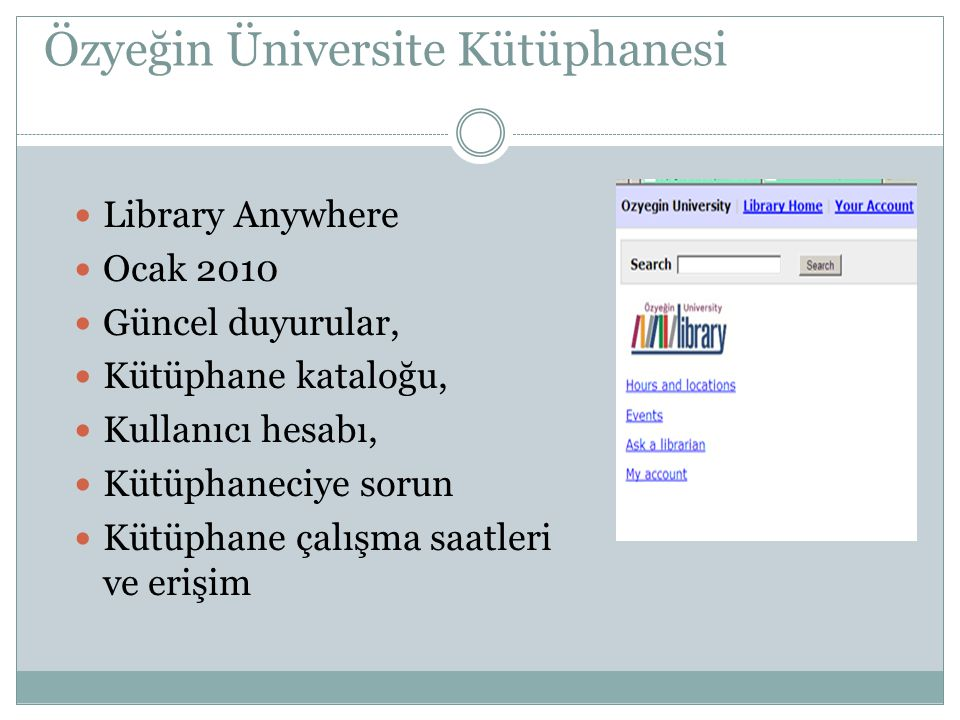 Özyeğin Üniversite Kütüphanesi