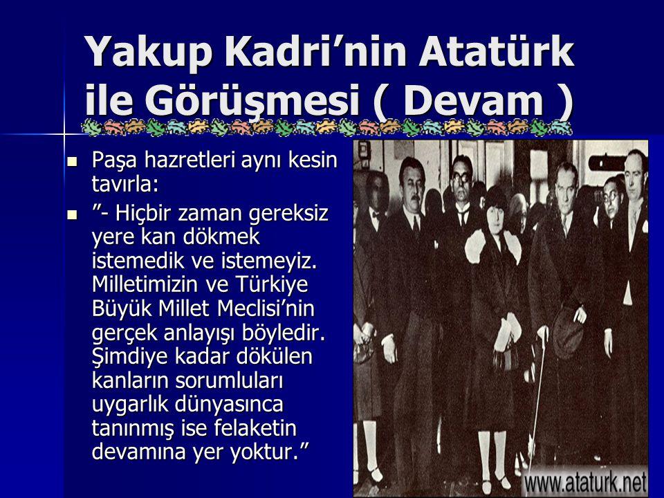 Yakup Kadri'nin Atatürk ile Görüşmesi ( Devam )