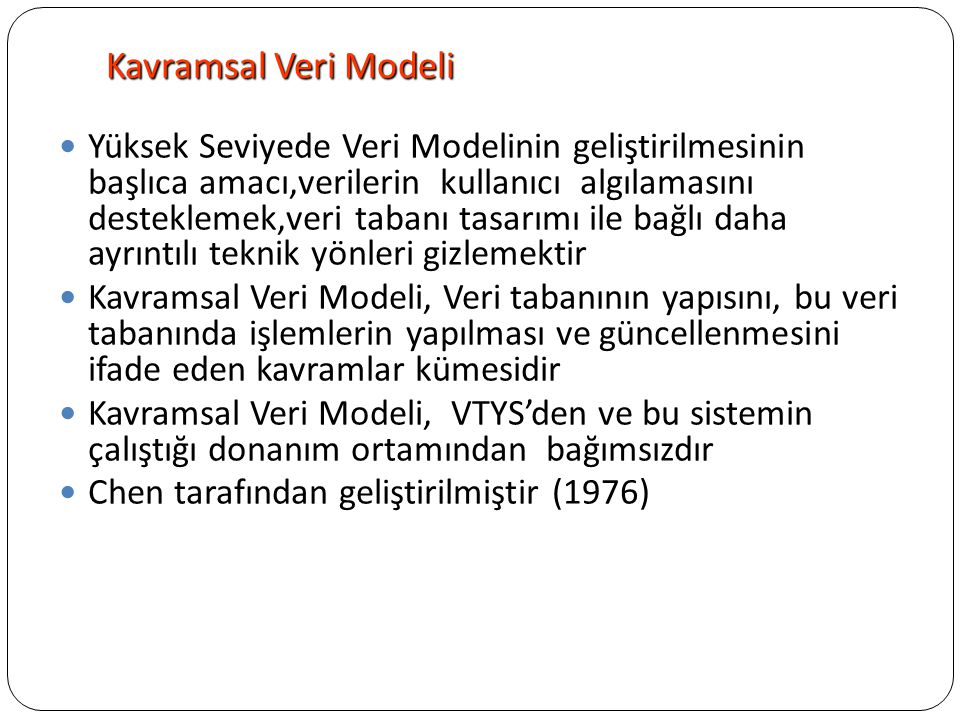 Kavramsal Veri Modeli