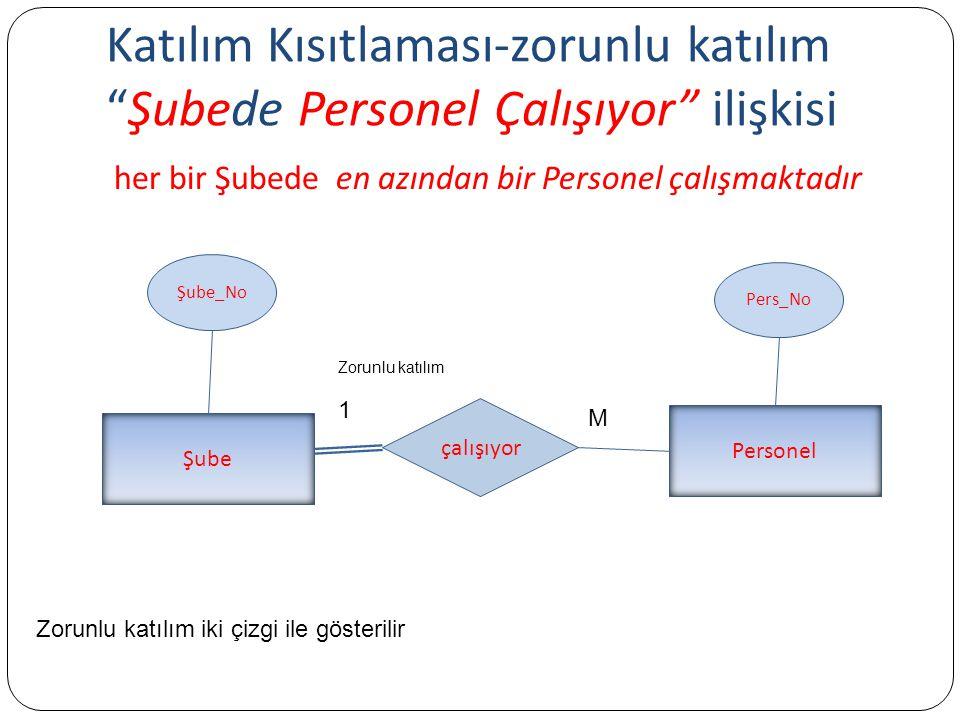 Katılım Kısıtlaması-zorunlu katılım Şubede Personel Çalışıyor ilişkisi