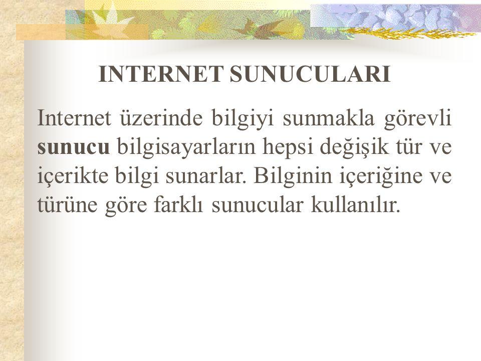 INTERNET SUNUCULARI