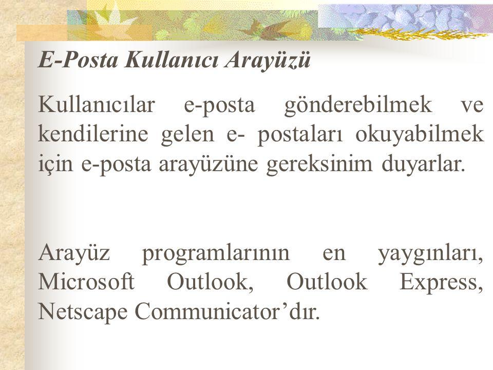 E-Posta Kullanıcı Arayüzü
