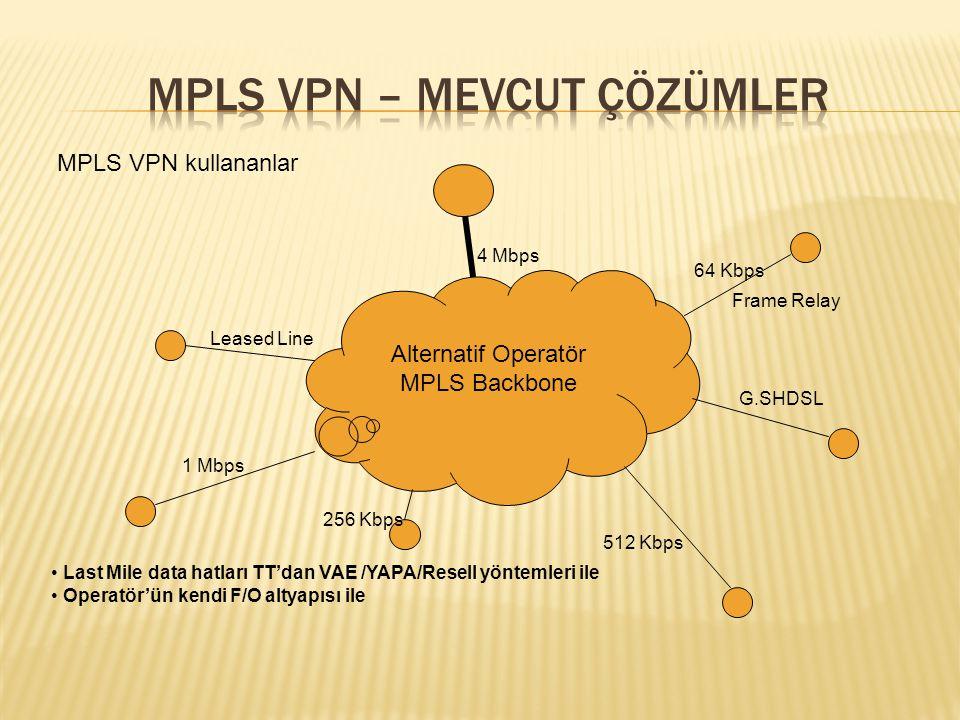 MPLS VPN – mevcut çözümler