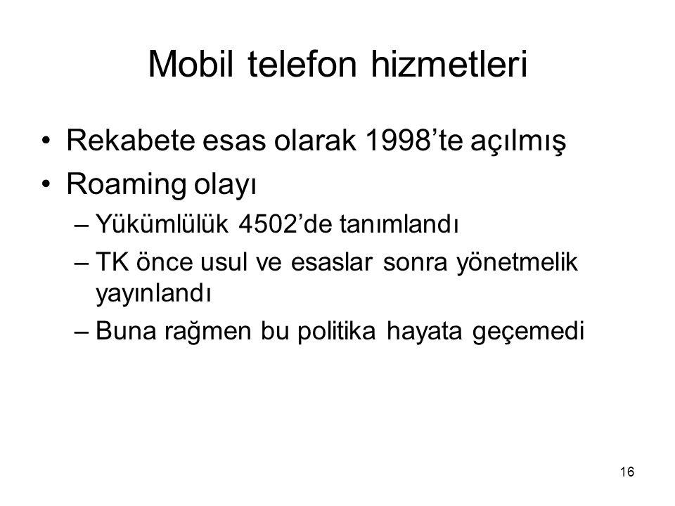 Mobil telefon hizmetleri