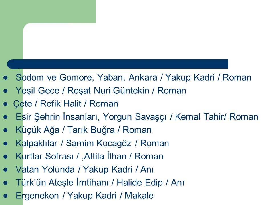 Sodom ve Gomore, Yaban, Ankara / Yakup Kadri / Roman