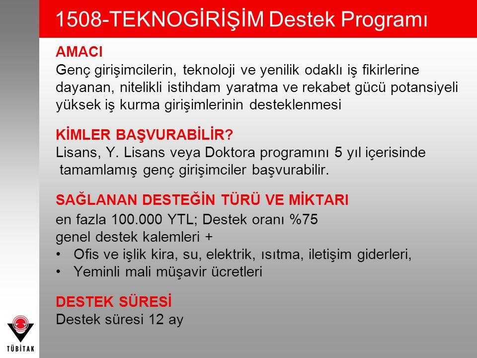 1508-TEKNOGİRİŞİM Destek Programı