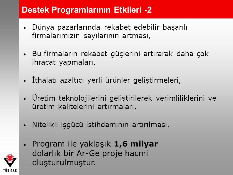 Destek Programlarının Etkileri -2