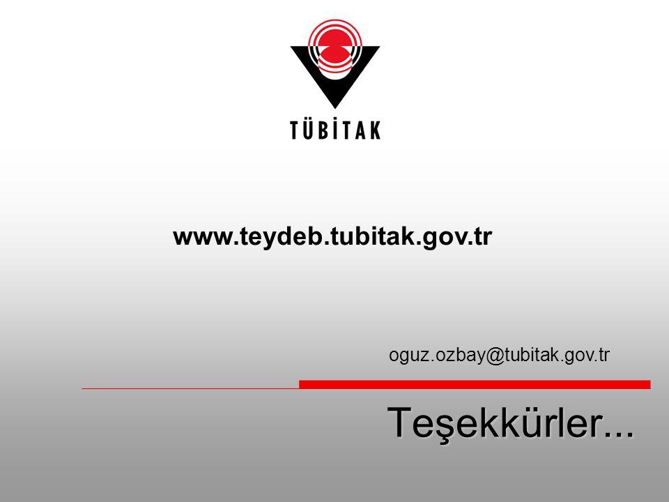 www.teydeb.tubitak.gov.tr oguz.ozbay@tubitak.gov.tr Teşekkürler...