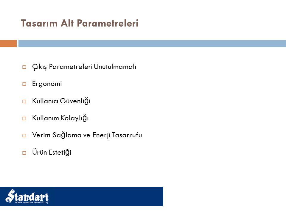 Tasarım Alt Parametreleri