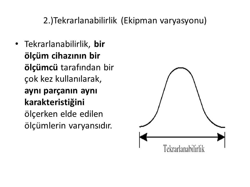 2.)Tekrarlanabilirlik (Ekipman varyasyonu)
