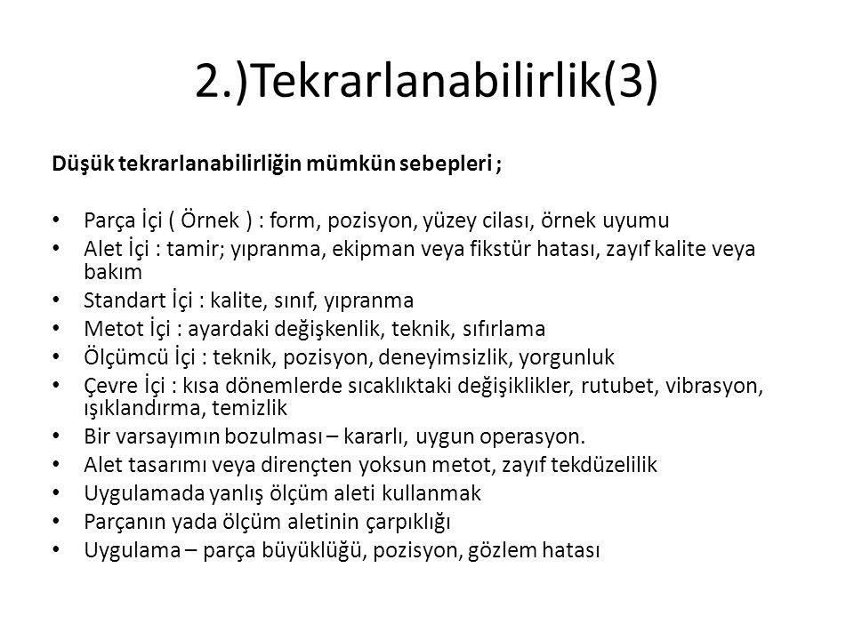 2.)Tekrarlanabilirlik(3)