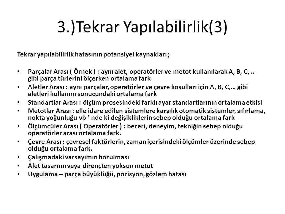 3.)Tekrar Yapılabilirlik(3)