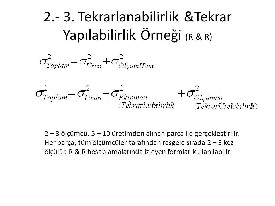 2.- 3. Tekrarlanabilirlik &Tekrar Yapılabilirlik Örneği (R & R)