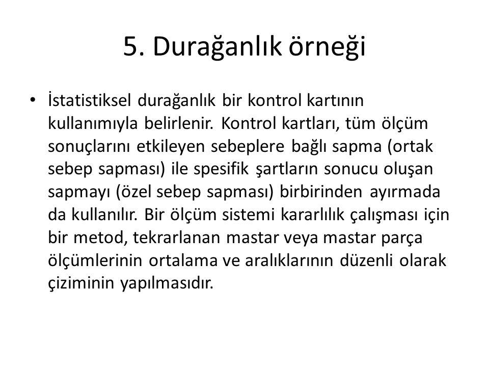 5. Durağanlık örneği