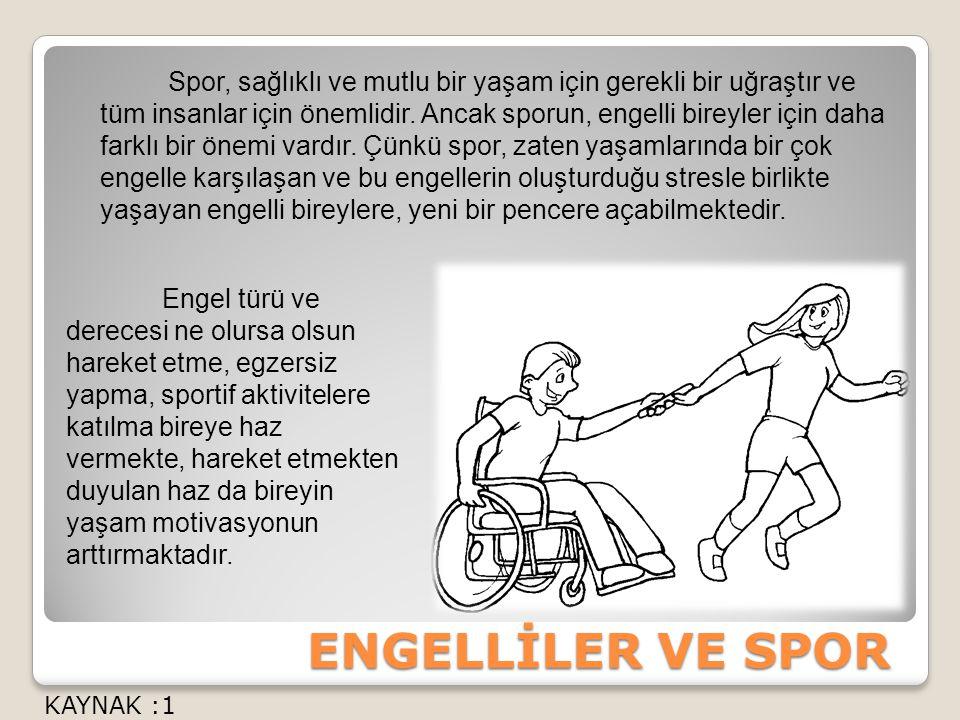 Spor, sağlıklı ve mutlu bir yaşam için gerekli bir uğraştır ve tüm insanlar için önemlidir. Ancak sporun, engelli bireyler için daha farklı bir önemi vardır. Çünkü spor, zaten yaşamlarında bir çok engelle karşılaşan ve bu engellerin oluşturduğu stresle birlikte yaşayan engelli bireylere, yeni bir pencere açabilmektedir.