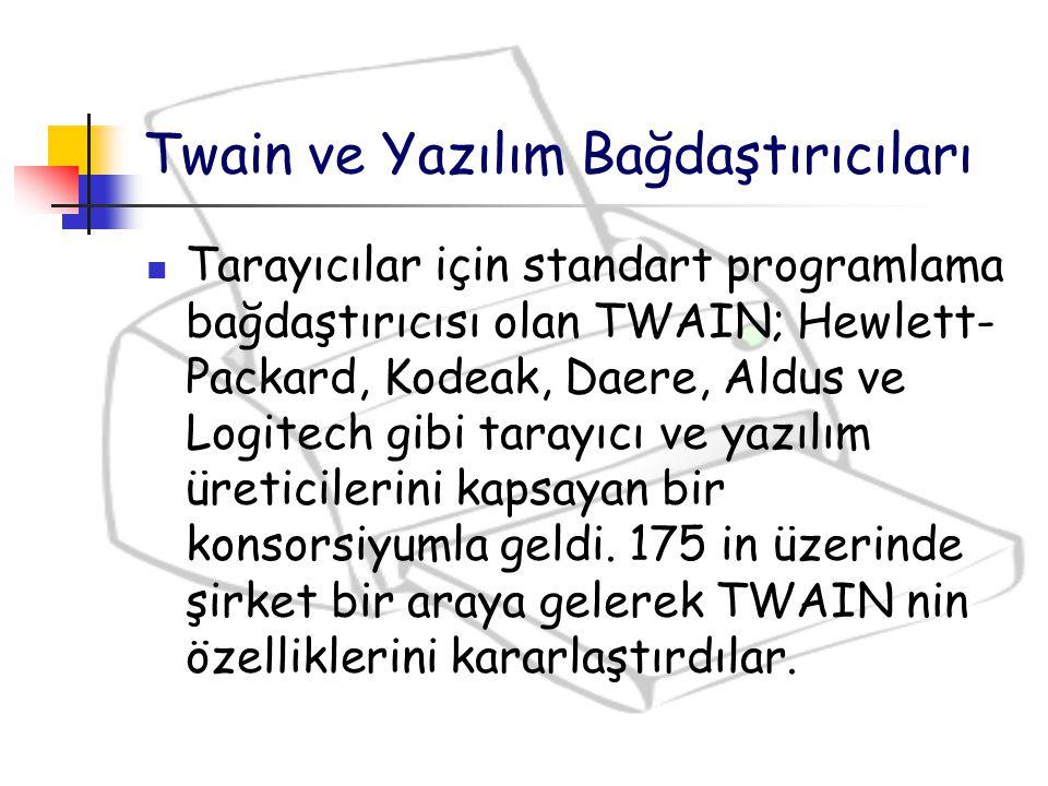 Twain ve Yazılım Bağdaştırıcıları