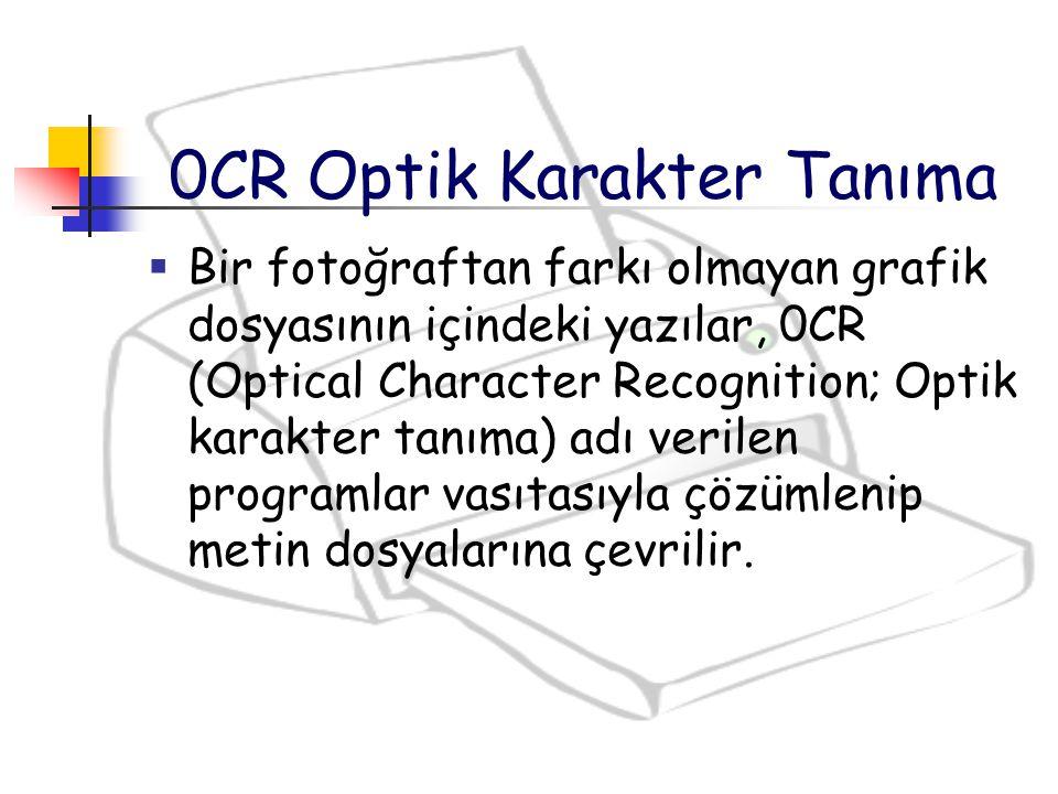 0CR Optik Karakter Tanıma