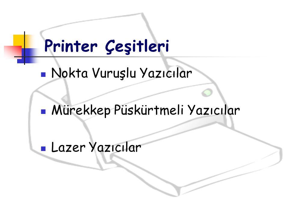 Printer Çeşitleri Nokta Vuruşlu Yazıcılar