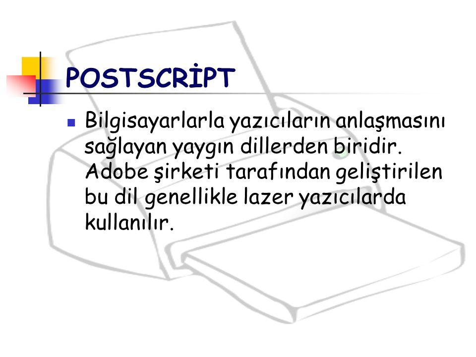 POSTSCRİPT