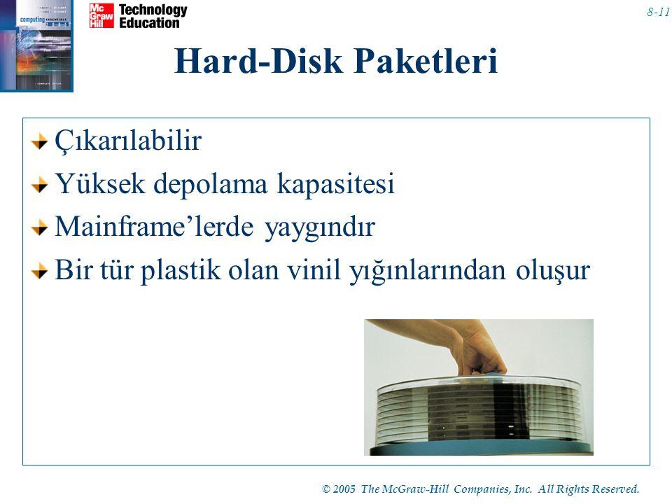Hard-Disk Paketleri Çıkarılabilir Yüksek depolama kapasitesi